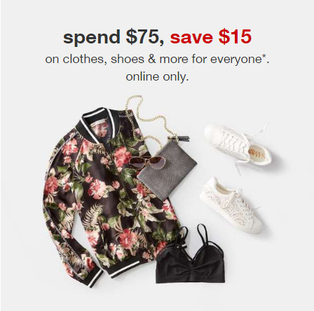 Target Clothes Spend 75 Save 15