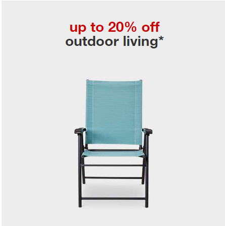 Target Outdoor living 20 OFF